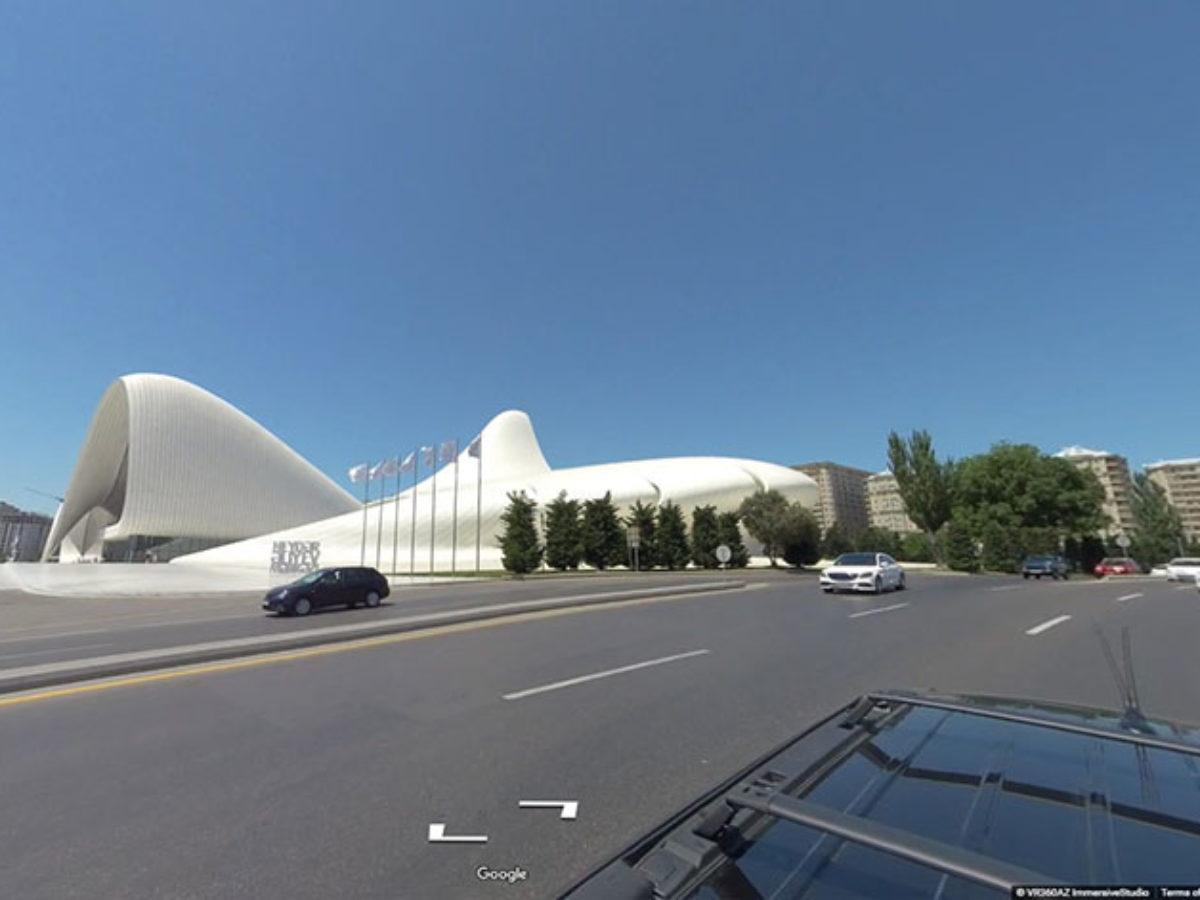 Google Street View<br>Heydar Aliyev ave. Azerbaijan, Baku